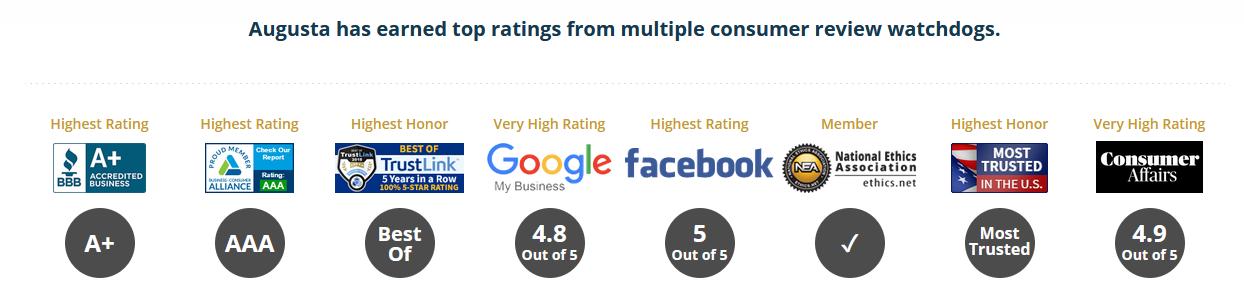 augusta precious metals reviews and ratings