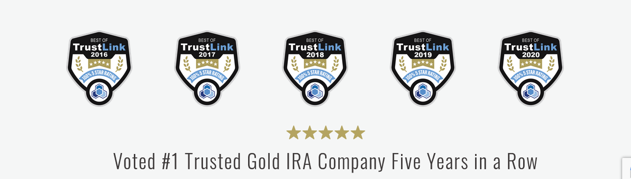 #1 Trusted gold ira company on trustlink