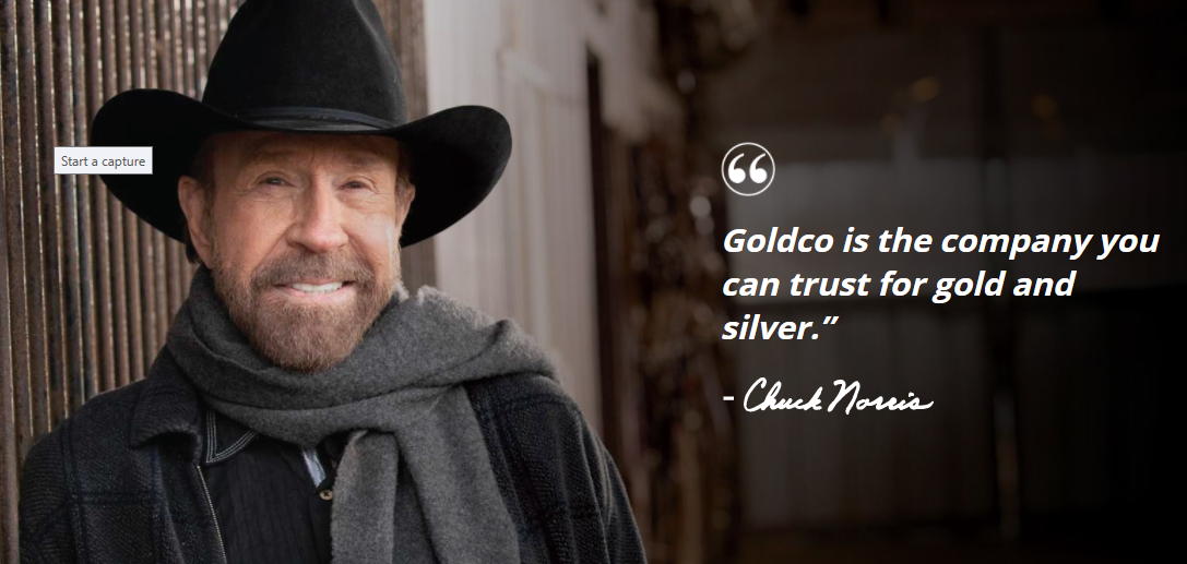 goldco and chuck norris