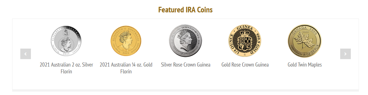 gold backed ira coins